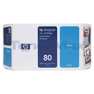 HP DESIGNJET 1050C NO 80 INK CYAN 175ML